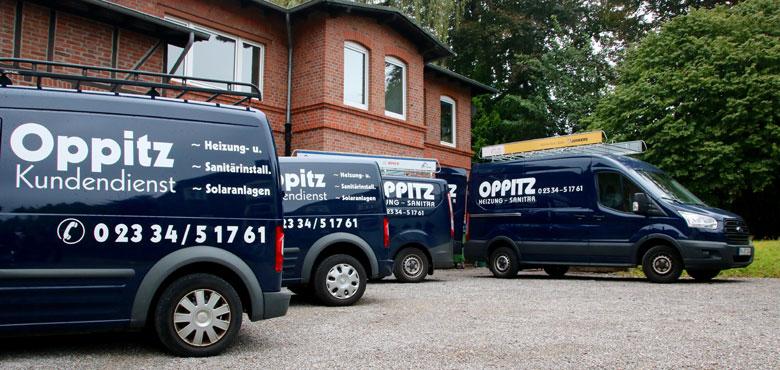 Firma Oppitz - Fahrzeugflotte und Fuhrpark